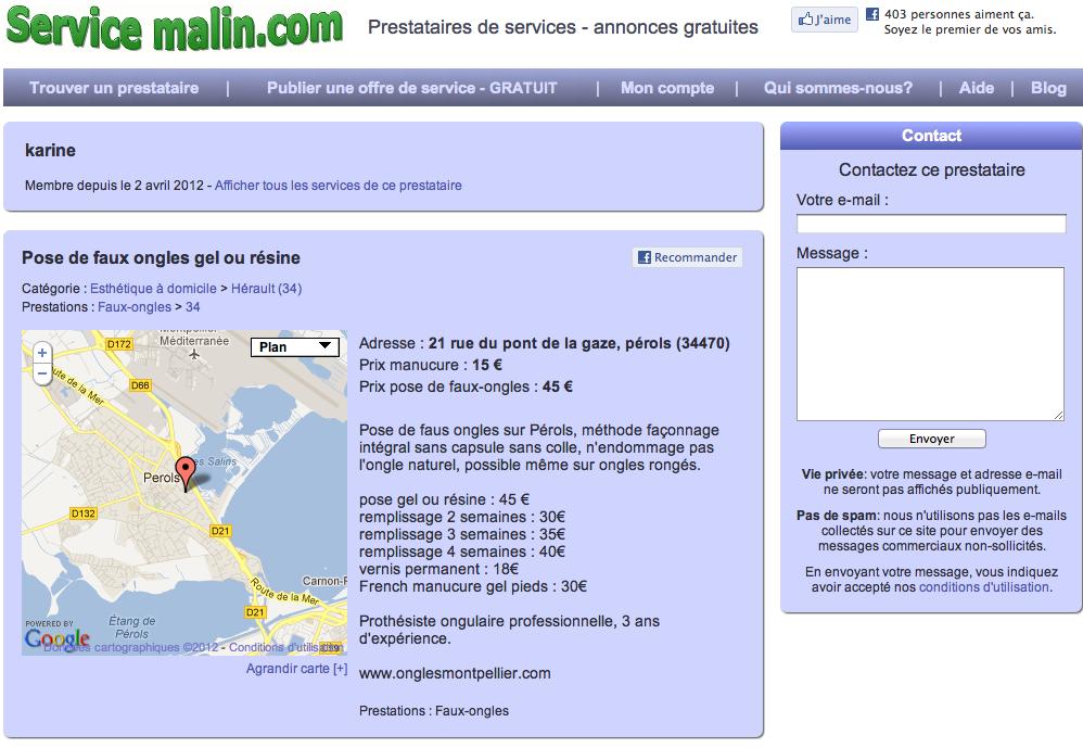 service malin 2