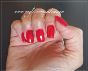 vernis semi permanent rouge