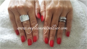 ongles rouge p