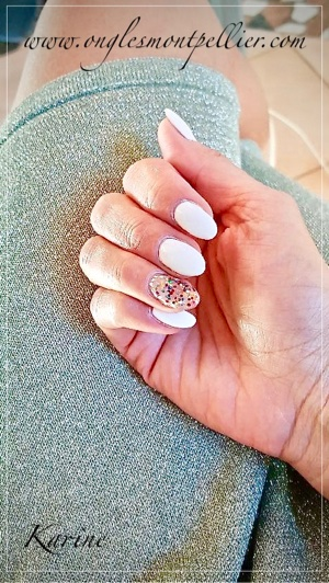 pose ongles gel blanc p