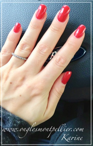 pose ongles gel rouge p