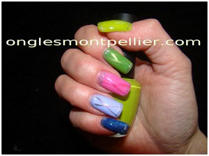 vernis multi color reduite